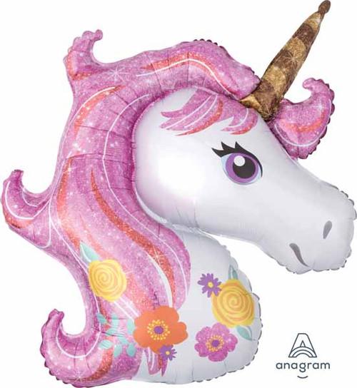 Sparkles Pink Unicorn Balloon
