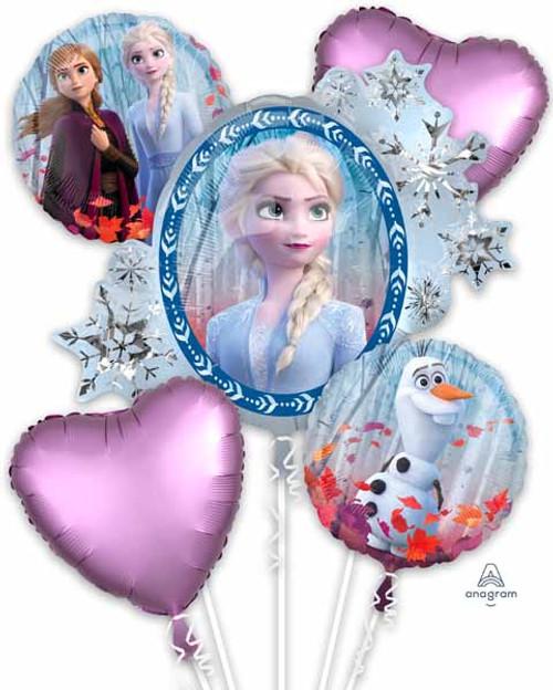 Frozen Birthday Party Balloons with Anna & Elsa