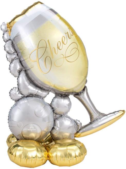 Jumbo Cheers Champagne Glass Airloonz Balloon Decoration