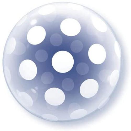 "20"" Big Polka Dots Party Deco Bubble Balloon"
