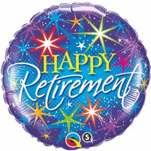 Happy Retirement Balloon with Stars