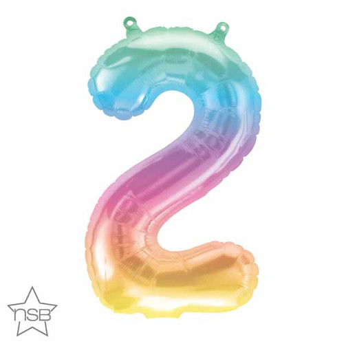 """16"""" Air-Filled No. 2 Shape Foil Decor Jelly Ombre"""