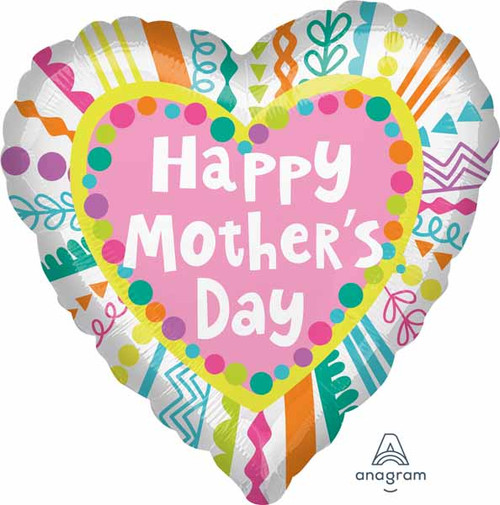 Heart Shaped Mother's Day Foil Balloon