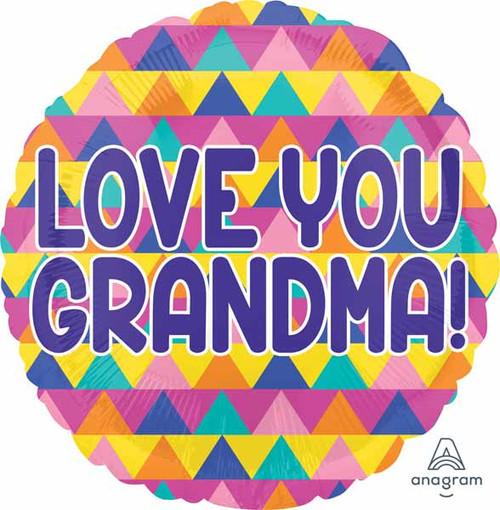 Love You Grandma Round Foil Balloon