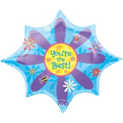 Supershape You're The Best Flower Balloon