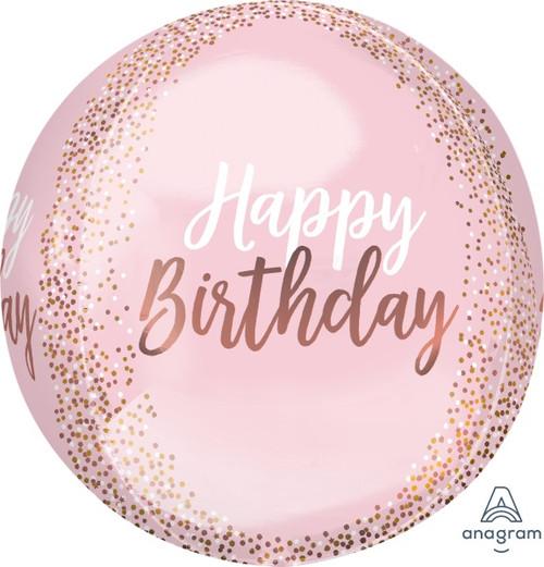 "Happy Birthday Orbz 15"" Decorative Balloon"