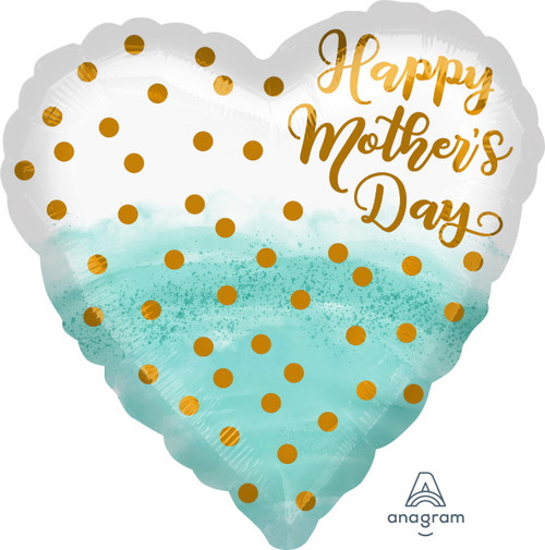 Happy Mother's Day Heart Shaped Foil Balloon