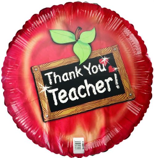 """18"""" Round Thank You Teacher Foil Balloon"""
