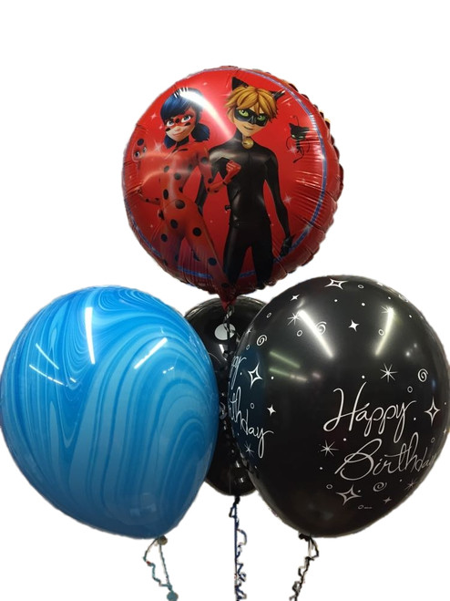 Miraculous Ladybug Cat Noir Balloon Bouquet
