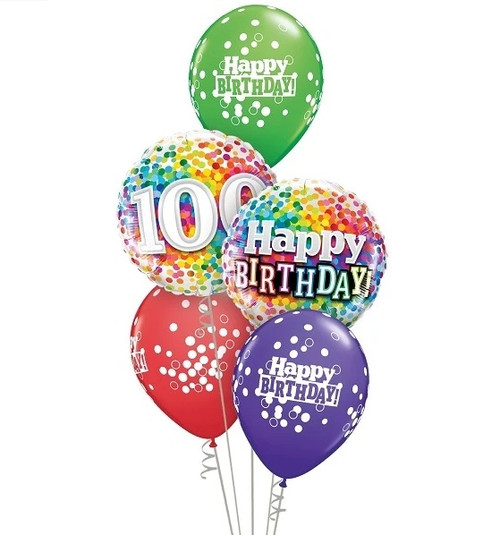 100 years young birthday balloons