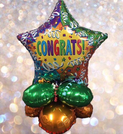 Congrats Star Balloon Centerpice