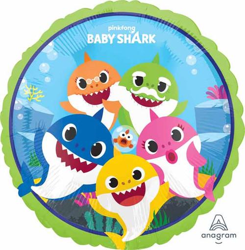 Baby Shark Round Helium Birthday Balloon