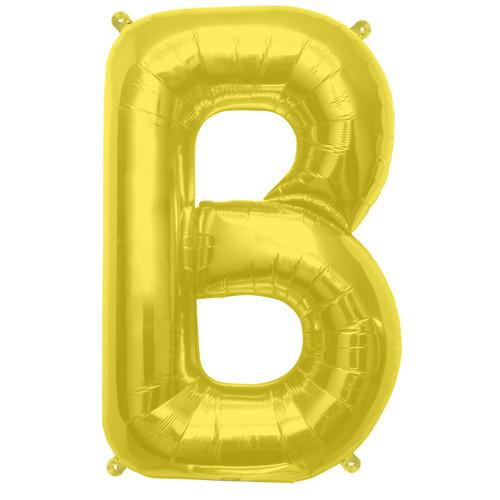 Jumbo Supershape Letter B Gold Foil Balloon