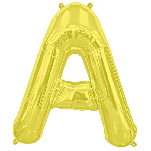 Super Big Gold A Letter Balloon