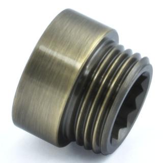 RVE-RIG-10-AB - 10mm Rigid Radiator Valve Extensions 1/2 inch BSP - Antique Brass