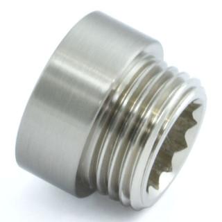 RVE-RIG-10-SN - 10mm Rigid Radiator Valve Extensions 1/2 inch BSP - Satin Nickel