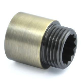 RVE-RIG-20-AB - 20mm Rigid Radiator Valve Extensions 1/2 inch BSP - Antique Brass