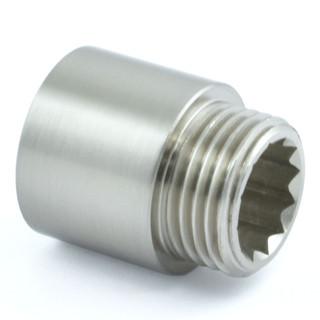 RVE-RIG-20-SN - 20mm Rigid Radiator Valve Extensions 1/2 inch BSP - Satin Nickel