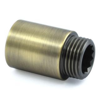 RVE-RIG-30-AB - 30mm Rigid Radiator Valve Extensions 1/2 inch BSP - Antique Brass