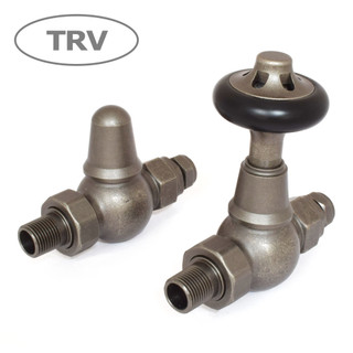 ADM-ST-PEW - Admiral Traditional Thermostatic Radiator Valve - Pewter (Straight TRV)