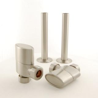 ELLIP-AG-SN - Ellipse - Oval Rad Valve inc sleeves - satin nickel pair