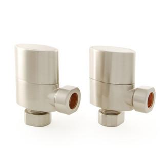 ELLIP-X-AG-SN - Ellipse Oval Rad Valve Satin Nickel pair without sleeve kit