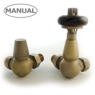 ETO-CR-OEB - Eton Traditional Radiator Valve - Old English Brass (Corner Manual)