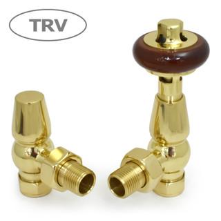 FAR-AG-B - Faringdon Traditional Thermostatic Radiator Valve - Brass (Angled TRV)