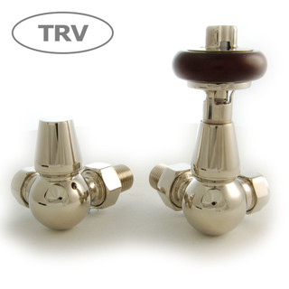 FAR-CR-N - Faringdon Traditional Thermostatic Radiator Valve - Nickel (Corner TRV)