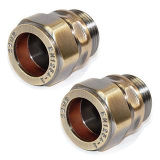 ABB-22-ADP-X2-AB - 22mm Compression Adaptors - Antique Brass (Pair)