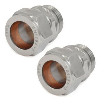 ABB-22-ADP-X2-C - 22mm Compression Adaptors - Chrome (Pair)