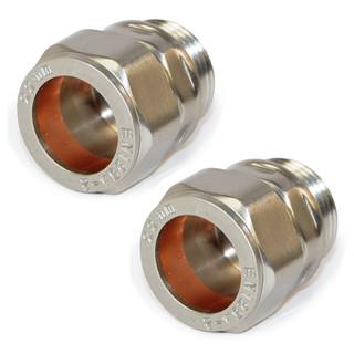 ABB-22-ADP-X2-SN - 22mm Compression Adaptors - Satin Nickel (Pair)