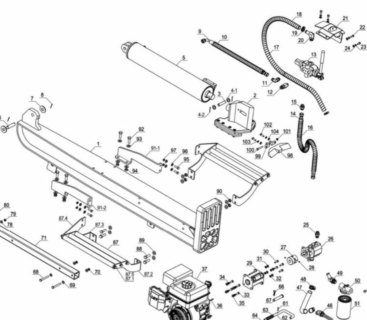 Log Splitter Parts
