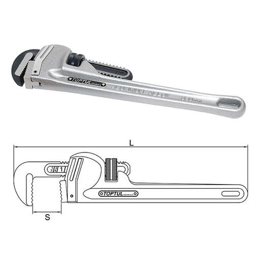 Toptul Aluminium Pipe Wrench (DDAC)