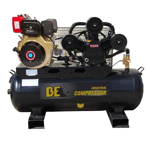 Industrial 160 Litre Belt Drive Air Compressor - 805L/min FAD - Diesel Engine