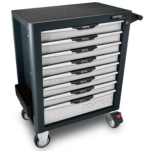 Toptul 8-Drawer Mobile Tool Trolley - PRO-PLUS SERIES - GRAY (TCBL0803)
