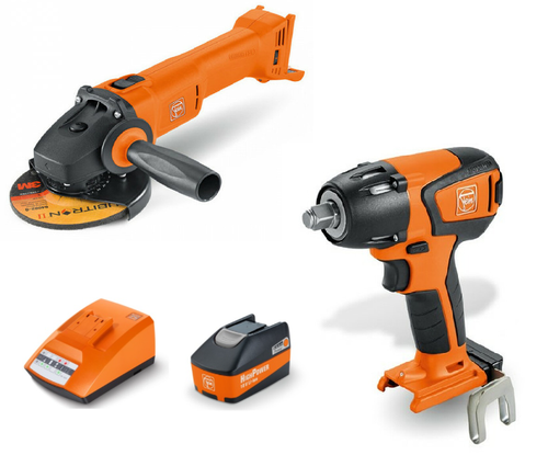 FEIN 18V ASCD Brushless Impact Wrench / Grinder Set - Includes Battery & Charger (ASCD-CCG-SET)