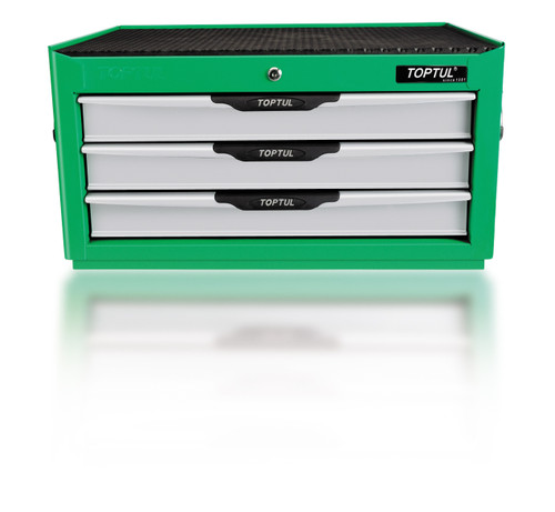 Toptul 3 Drawer Chest (Green) Empty (TBAD0301)