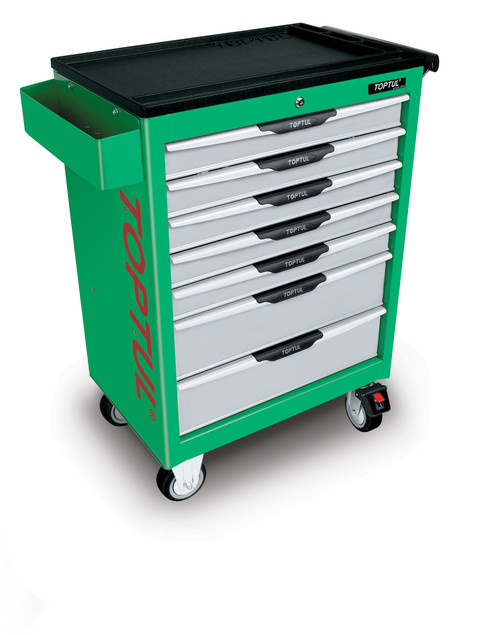 Toptul 7 Drawer Chest (Green) Empty (TCAC0701 (Green))