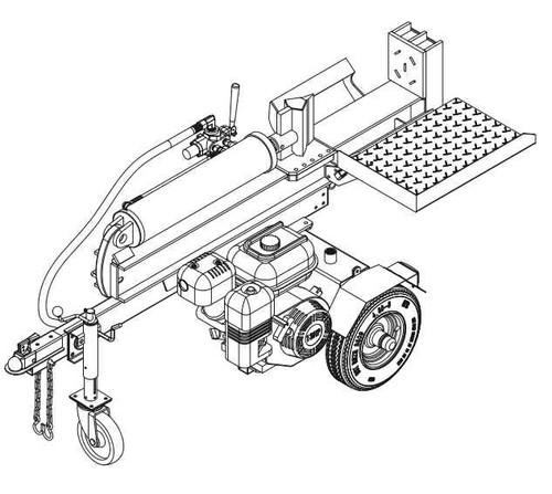 40 Ton Honda GX390 Log Splitter (126 LS40VTL)