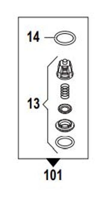 Comet Valve Kit RW 18mm (115 50250025)