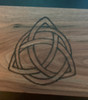 Walnut Storage Box with Triquetra Burned into Top