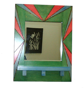 Mirror, Pine Mirror w/Woodburned Design and Custom Stains