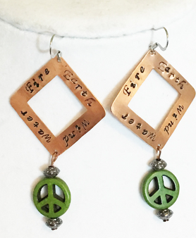 Earrings/ The Four Elements