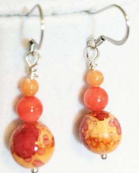 Earrings/Shades of Orange