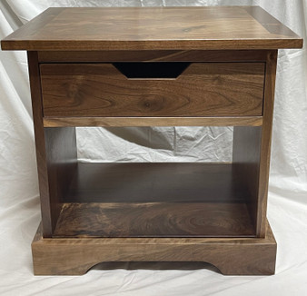 End Table in Walnut, also available in Maple, Oak or Pine. This is just a sample, all are made to order and wood patterns vary.