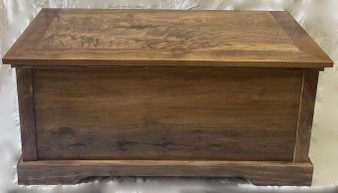 Large Walnut Hope Chest, lined with Cedar. Also available in Maple, Oak or Pine.