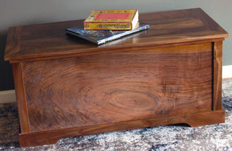 Large Walnut Hope Chest can be used as a coffee table as well.  Also available in Maple, Oak or Pine.