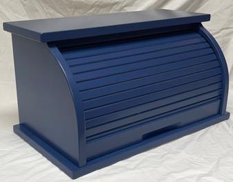 Denim Blue Bread Box/ Oversized