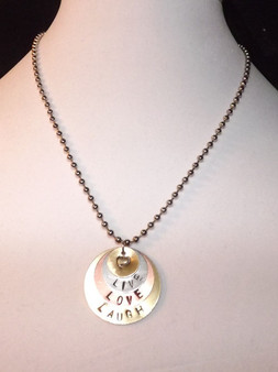 Necklace/ Personalized Handstamped